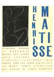 Affiche voor tentoonstelling Luzern 1949, Henri Matisse