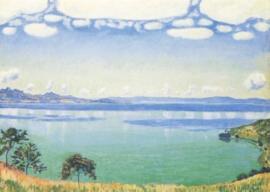 Landschap bij het meer van Genève, Ferdinand Hodler