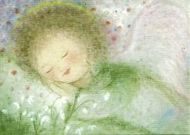 Februari engel, maandkaart, Eriena Blaffert