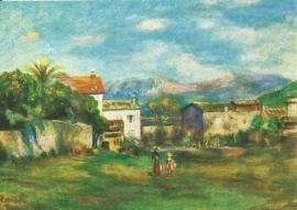 Aanzicht van Cagnes, Pierre-Auguste Renoir
