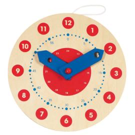 Houten klok, 18 cm