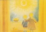 Kinderen kijken naar de opkomende zon, Ruth Elsässer