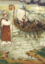 Nicolaas van Myra, wandschildering