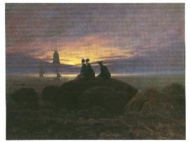 Maansopgang aan zee, Caspar David Friedrich