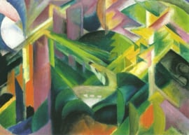 Ree in kloostertuin, Franz Marc