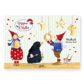 Kleurboek Kerst met Pippa en Pelle