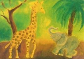 Giraf en olifant, Dorothea Schmidt