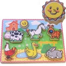 Houten puzzel Boerderij dieren