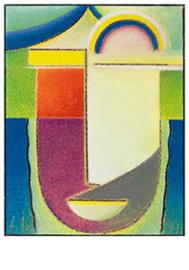 Abstract hoofd: Pasen, Alexej von Jawlensky