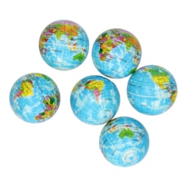 Foambal wereldbol 5,5 cm