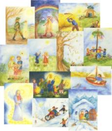 Mapje 12 maandkaarten Ilona Bock