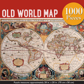 Puzzle Peter Pauper Old World Map