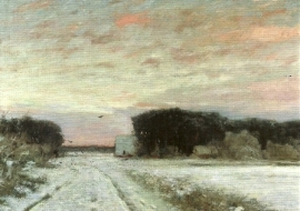 Winter in Worpswede, Hans am Ende