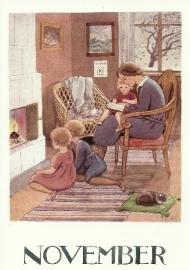 November, maandkaart Elsa Beskow