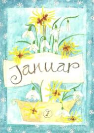 Januari, maandkaart Inga Berkensträter
