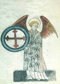 Engel met kruis, 15de eeuw