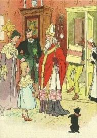 Binnenkomst Sinterklaas en Piet