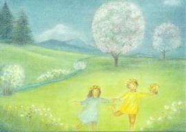 Mei maandkaart Bloesembomen, Ruth Elsässer