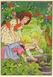 Kinderen bij vijver, Rie Cramer