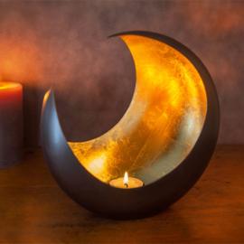 Waxinelichthouder Goldlicht Luna brons/goud