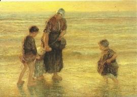 Zomeravond aan het strand, Bernardus Johannes Blommers