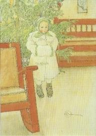 Meisje en schommelstoel, Carl Larsson
