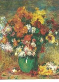 Vaas met chrysanten, Pierre-Auguste Renoir