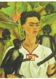 Zelfportret met apen, Frida Kahlo