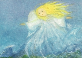 Juli engel, maandkaart Eriena Blaffert