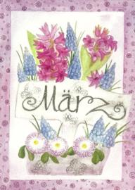 Maart, maandkaart Inga Berkensträter