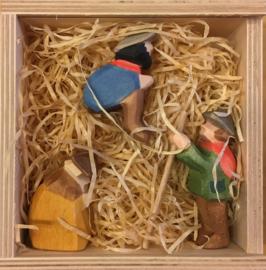 Herdersgroep miniatuur 3-delig (7,5cm, 5cm en 5,5cm)