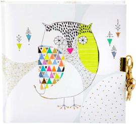 Dagboek Mosaic Owl met slot, Goldbuch Turnowsky