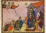 Aanbidding van de drie Koningen, Egbert codex rond 980