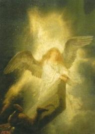 Engel, detail uit Opstanding Christus, Rembrandt