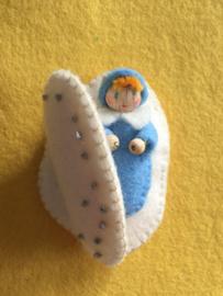 Schelpenkindje blauw