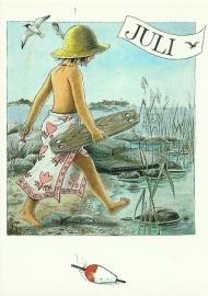 Juli, maandkaart Lena Anderson