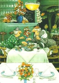 Vrouwen in restaurant, Inge Löök