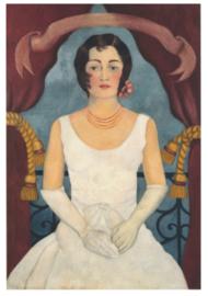 Portret van een dame in het wit, Frida Kahlo