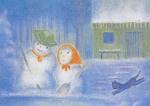 Sneeuwpop februari, maandkaart Ruth Elsässer