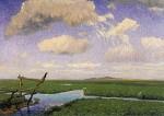 Zomerdag in de Hamme delta, Fritz Overbeck