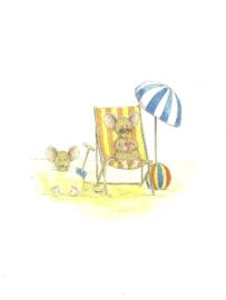 Luieren op het strand, Anke Bits
