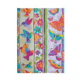Hummingbirds&flutterbyes Midi, notebook Paperblanks