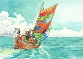 Karel Klus bouwt een boot