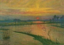 Overstroming bij de Wümme, Otto Modersohn