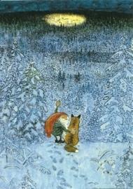 Winterdennenbos met lichtcirkel, Harald Wiberg