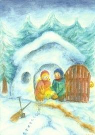 Februari, maandkaart, Ilona Bock