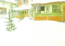 Huis in de sneeuw, Carl Larsson