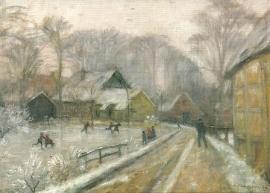 IJspret in Bredenau, Otto Modersohn