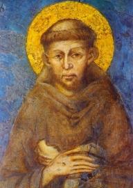 St. Franciscus, fresco Cimabue (detail)