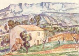 Het huis bij de berg, Paul Cézanne